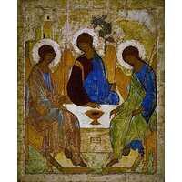 Икона Троица(Рублёв) 15 век, фото 1