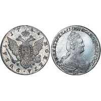 1 рубль 1784 года, Екатерина 2, фото 1