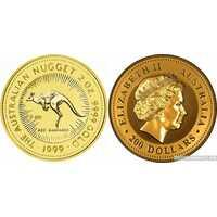 """100 долларов 1999 года """"Кенгуру""""(золото, Австралия), фото 1"""