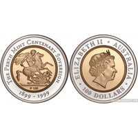 """100 долларов 1999 года """"Юбилейный Соверен""""(золото, Австралия), фото 1"""