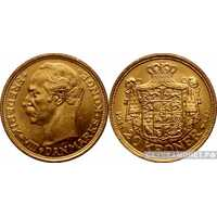 """20 крон 1908-1912 года """"Фредерик VIII""""(золото, Дания), фото 1"""