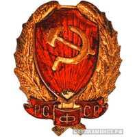Нагрудный знак командного состава РКМ образца 1923г., фото 1