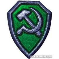Знак на головной убор рядового и командного состава ведомственной милиции. 1929-1930, фото 1