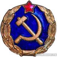 Знак-эмблема сотрудников мест заключения НКВД (Синяя эмаль), фото 1
