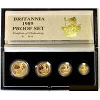 """Набор золотых монет Великобритании – """"Британия"""", 1989 г.в. (4 монеты), фото 1"""