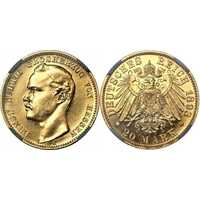 20 марок Эрнст Людвиг. Гессен. 1893 год., фото 1