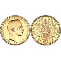 20 марок Карл Эдуард. Герцогство Саксо-Кобург и Гота. 1905 год, фото 1