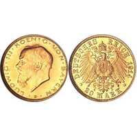 20 марок Людвиг III. Бавария. 1914 год, фото 1
