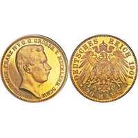 20 марок Фридрих Франц IV. Микленбург. 1901 год., фото 1