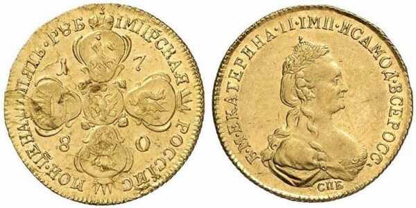 5 рублей 1780 года, Екатерина 2, фото 1