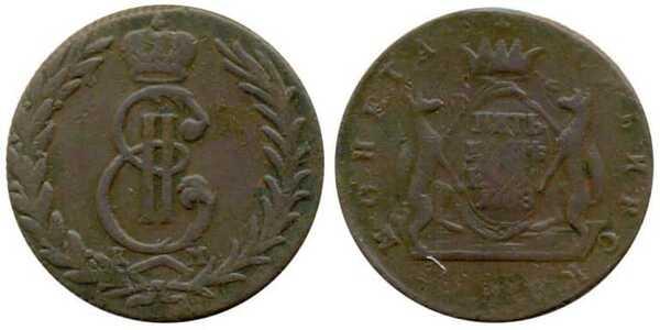 5 копеек 1768 года, Екатерина 2, фото 1
