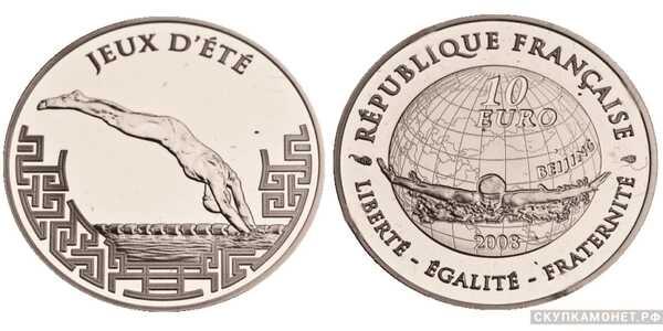 10 евро 2008 года «XXIX Летние Олимпийские игры»(золото, Франция), фото 1