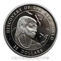 25 долларов 1990 года, Открытие Нового мира, фото 1
