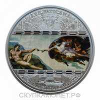 20 Долларов 2008 года, Сотворение Адама, Микеланджело, фото 1