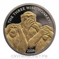 4000 Шиллингов 2006 года, Три обезьяны, фото 1