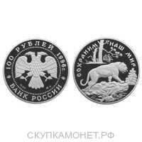 100 рублей 1996 Сохраним наш мир. Амурский тигр, фото 1