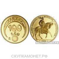 100 экю 1989 г.в.(золото, Испания), фото 1