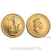 """10 фунтов стерлингов 1987 года """"Британия""""(золото, Великобритания), фото 1"""