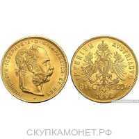 20/8 флоринов 1892 года рестрайк(золото, Австро-Венгрия), фото 1