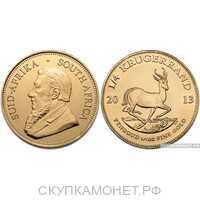 1 крюгерранд 2013 года (золото, ЮАР), фото 1