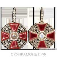 Орден Святой Анны с бриллиантовыми украшениями 2 степени, фото 1