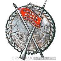 Знак «Смерть контрреволюции Красногвардейцу. 10-я годовщина Октября», фото 1