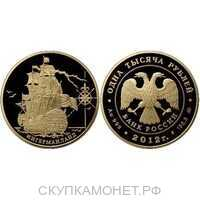 "1000 рублей 2012 год (золото, Корабль ""Ингерманланд""), фото 1"