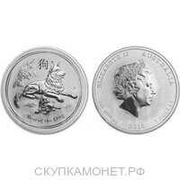 1 доллар Елизавета II. Лунар. Год Собаки. 2018 год, фото 1