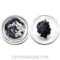 1 доллар Елизавета II. Лунар. Год дракона. 2012 год, фото 1