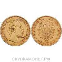 20 марок Фридрих I. Ангальт. 1875 год, фото 1