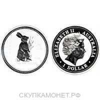 1доллар Елизавета II. Лунар. Год кролика1999 год, фото 1