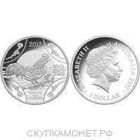 1 доллар Елизавета II. Лунар. Год петуха. 2017 год, фото 1