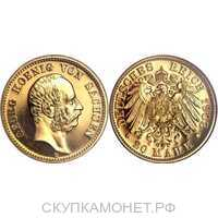20 марок Георг. Королевство Саксония. 1903 год, фото 1