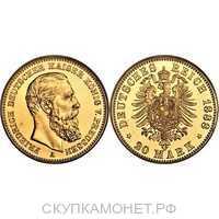 20 марок Фридрих III. Пруссия. 1888 год, фото 1