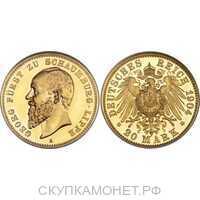 20 марок Альберт Георг. Княжество Шаумбург-Липпе. 1898-1904, фото 1