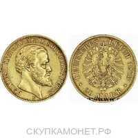 20 марок Хенрих XXII. Реусс. 1875 год, фото 1