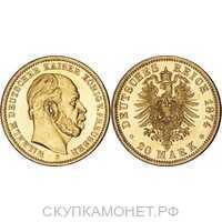 20 марок Вильгельм I. Пруссия. 1874-1888, фото 1