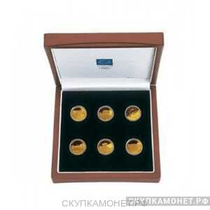 """Набор золотых монет Греции – """"Олимпиада в Афинах"""", 2004 г.в., фото 1"""