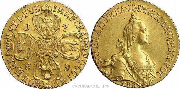5 рублей 1769 года, Екатерина 2, фото 1