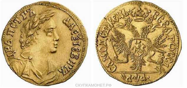 1 червонец 1701 года, Петр 1, фото 1